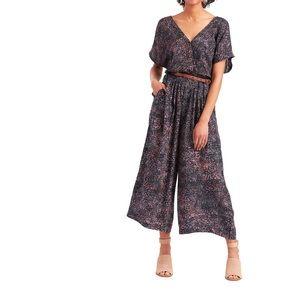 Black Multicolor Dash Eliza Jumpsuit With Pockets